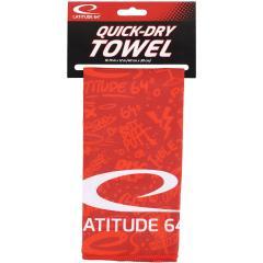 Latitude 64 Quick Dry Towel, punainen