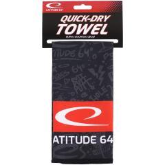 Latitude 64 Quick Dry Towel, musta