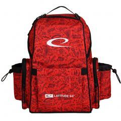 Latitude Swift Backpack, punainen (kuvioinnilla)