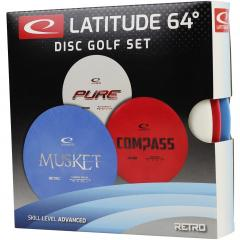 Latitude 64 Disc Golf Set, Musket, Compass, Pure